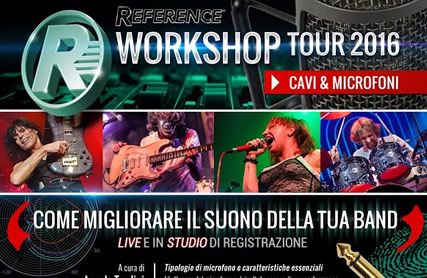 workshop tour 2016 cavi microfoni s
